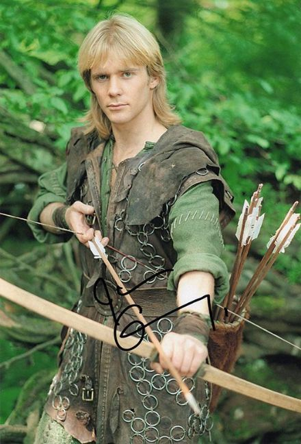 Jason Connery, Robin of Sherwood, signed 12x8 inch photo.
